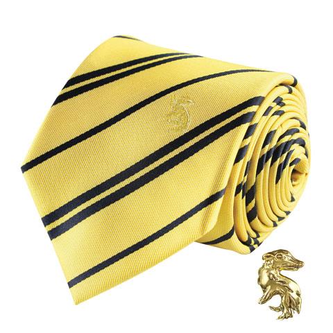 Cravate Deluxe Poufsouffle avec pin's - Harry Potter