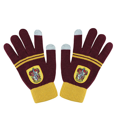 Gants tactiles - Gryffondor pourpre et or - Harry Potter