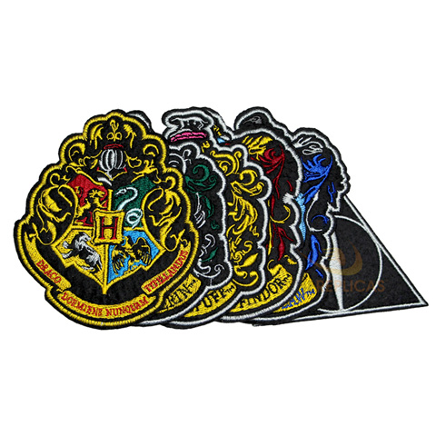 Ecussons Harry Potter édition Deluxe - lot de 6