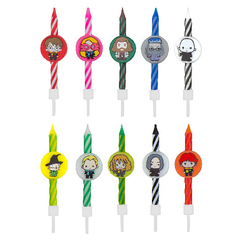Harry Potter - Set 10 bougies Anniversaire Kawaii