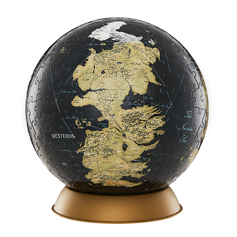 Globe Puzzle Westeros et Essos - 15 cm - 240 pcs - Game of Thrones - 4D Cityscape