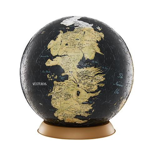 Globe Puzzle Westeros et Essos - 22,5 cm - 540 pcs - Game of Thrones - 4D Cityscape