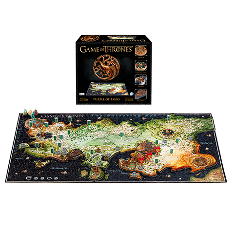 Puzzle Carte Essos - 1350 pcs - Game of Thrones - 4D Cityscape
