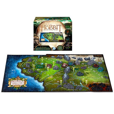 Puzzle de la Terre du Milieu - 1390 pcs - Hobbit - 4D Cityscape