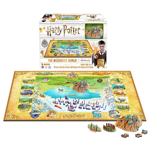 Puzzle The Wizarding World - 892 pcs - Harry Potter - 4D Cityscape