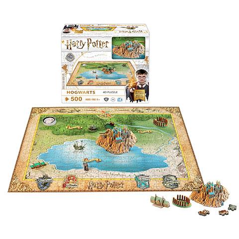 Puzzle Poudlard - 543 pcs -  Harry Potter - 4D Cityscape