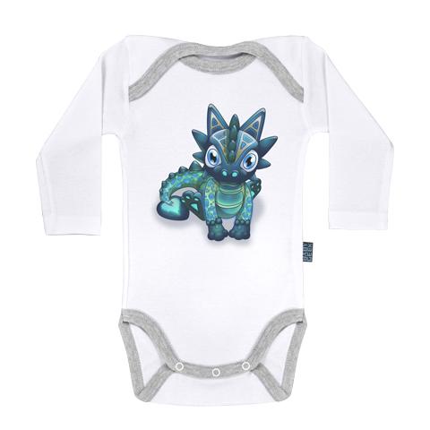 Bébé Dragon - Joli Coeur - Body Bébé manches longues - Coton - Blanc