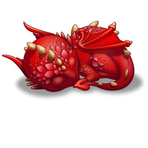 Bébé Dragon - Dormeur