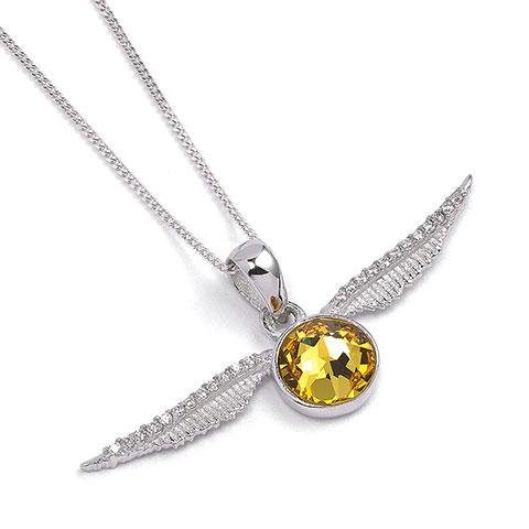 Collier Vif d'or avec cristaux de Swarovski