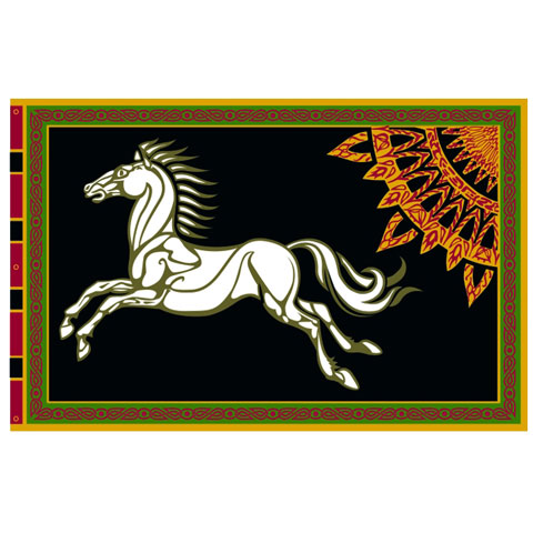 SDA™ - Drapeau du Rohan (fond noir)