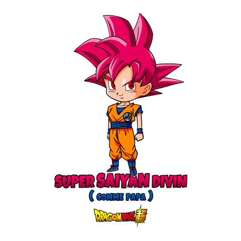 Bébé super Saiyan Divin comme Papa - Goku - Dragon Ball Super