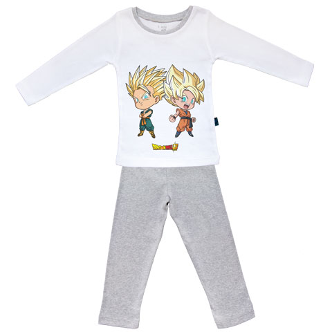 Goten et Trunks - Super Saiyan - Dragon Ball Super - Pyjama Bébé manches longues