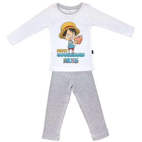 Petit gourmand - Luffy - One Piece - Pyjama Bébé manches longues