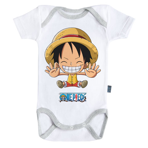 Luffy - Free hugs - One Piece - Body Bébé manches courtes