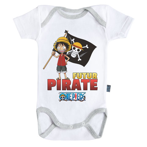 Futur pirate - Luffy - One Piece - Body Bébé manches courtes