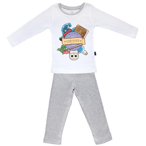 Bébé sorcier - Pyjama Bébé manches longues - Coton - Gris Chiné