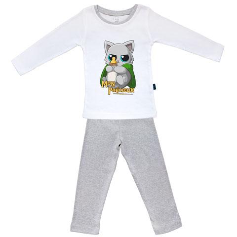 Chaton mon precieux - Pyjama Bébé manches longues - Coton - Gris Chiné