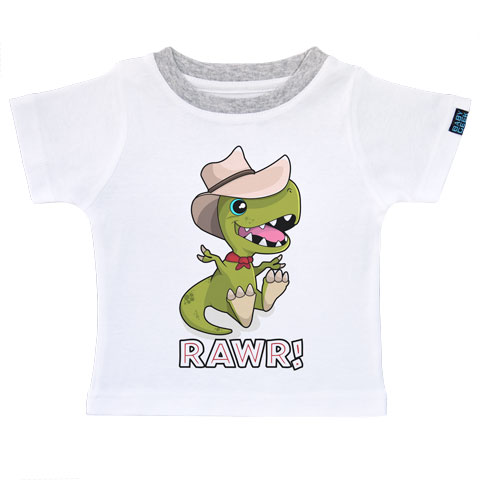 Jurassic baby dino - T-shirt Enfant manches courtes - Coton - Blanc