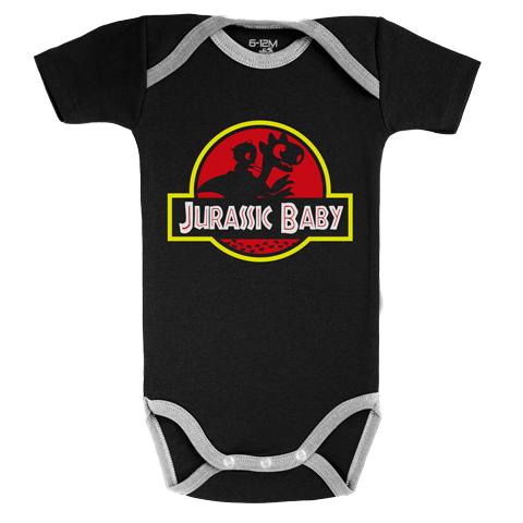 Jurassic Baby - Body Bébé manches courtes - Coton - Noir