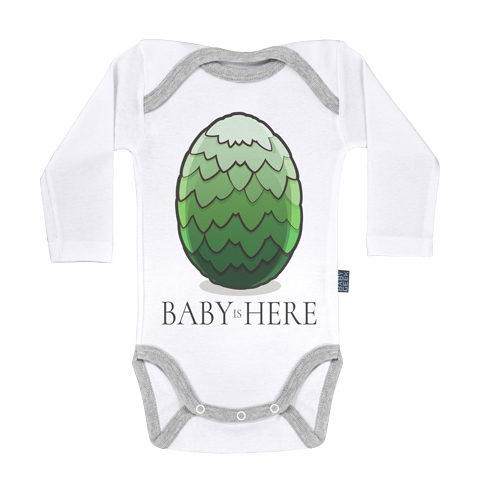 Baby is here - Vert - Body Bébé manches longues