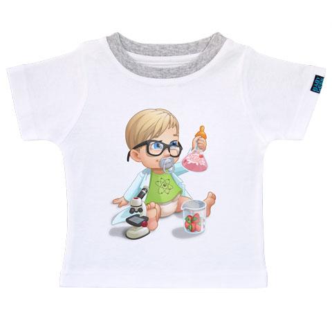 Un jour je serai un chercheur - T-shirt Enfant manches courtes - Coton - Blanc