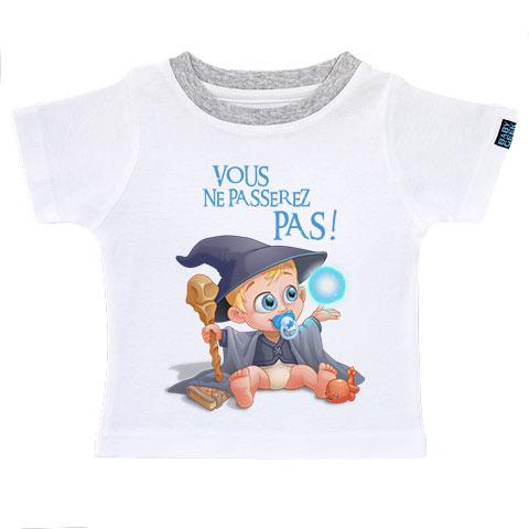 Un jour je serai un mage - T-shirt Enfant manches courtes - Coton - Blanc