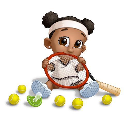 Un jour je serai une joueuse de tennis