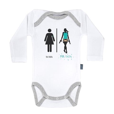 Ma super famille - Ma Tata Lara - Body Bébé manches longues - Coton - Blanc