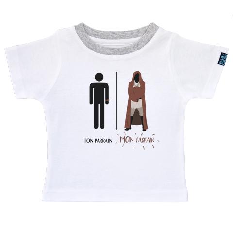 Ma super famille - Mon parrain de la force - T-shirt Enfant manches courtes - Coton - Blanc