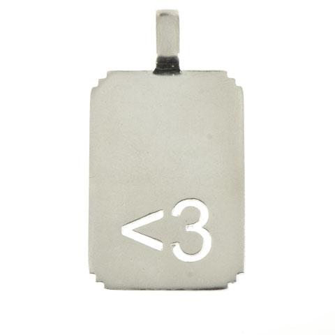 Pendentif Emoticone <3 (coeur)