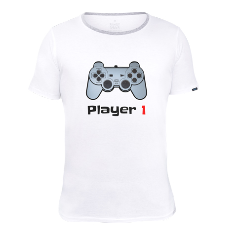 Player 1 - T-shirt - Coton - Blanc