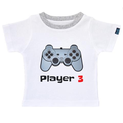 Player 3 - T-shirt Enfant manches courtes - Coton - Blanc