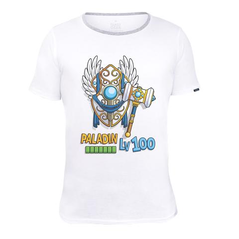 Paladin Lv100 - T-shirt - Coton - Blanc