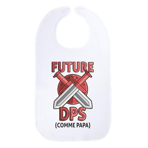 Future DPS comme papa (version fille) - Maxi bavoir Bébé - Coton Blanc