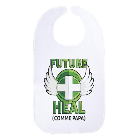 Future Heal comme papa (version fille) - Maxi bavoir Bébé - Coton Blanc