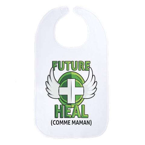 Future Heal comme maman (version fille) - Maxi bavoir Bébé - Coton Blanc