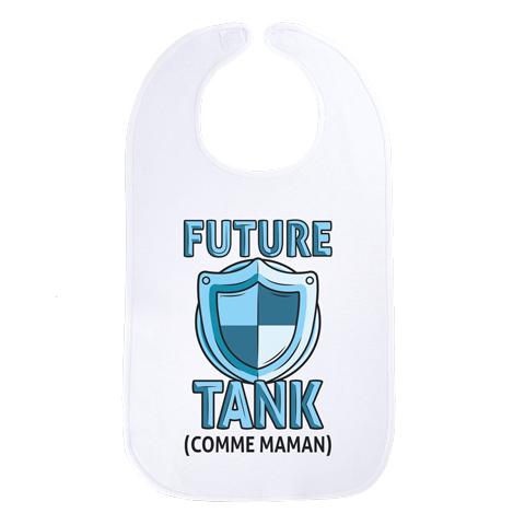 Future tank comme maman (version fille) - Maxi bavoir Bébé - Coton Blanc
