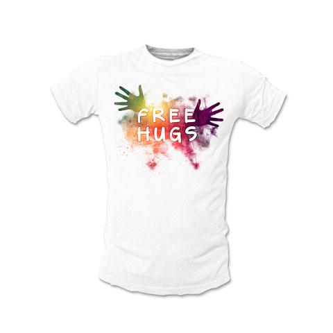 Free Hugs Colors - T-shirt Homme Coton Blanc