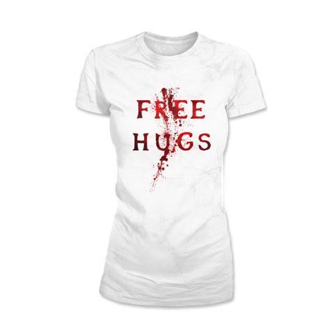 Free Hugs Blood - T-shirt Femme Coton Blanc