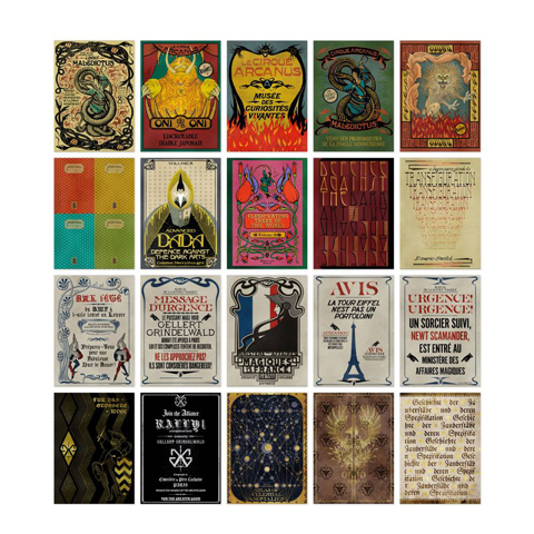 Lot de 20 cartes postales - Fantastic Beasts: The Crimes of Grindelwald Collection