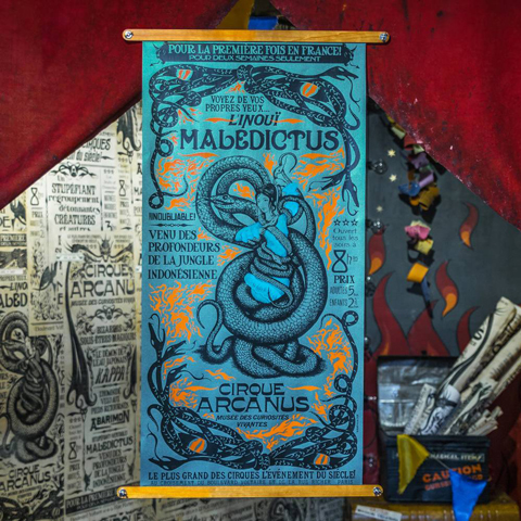 Réplique authentique de l'affiche de Nagini