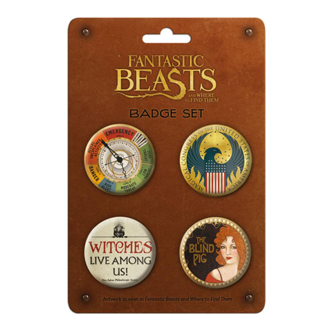 Lot de badges - Fantastic Beasts and Where to Find Them