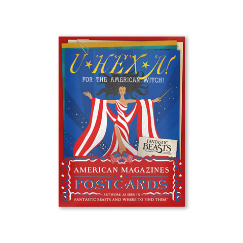 Lot de 20 cartes postales - American Wizarding Magazines