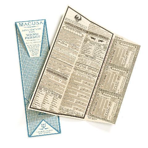 Wand permit kit - Lot de 4 permis baguette Macusa