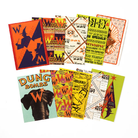 Lot de 20 cartes postales - The Weasleys' Wizard Wheezes Series 3