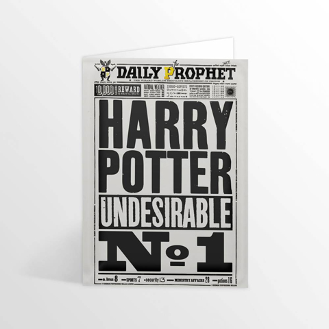 Carte de voeux Daily Prophet - Harry Potter Undesirable  No.1