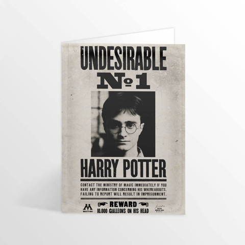 Carte de voeux lenticulaire Harry Potter - Ministry Undesirable No.1