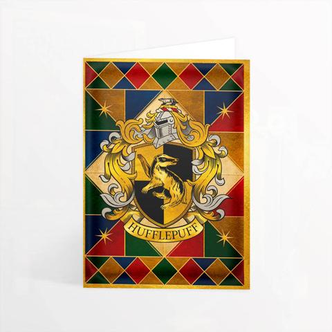 Carte 2 volets Hufflepuff Crest
