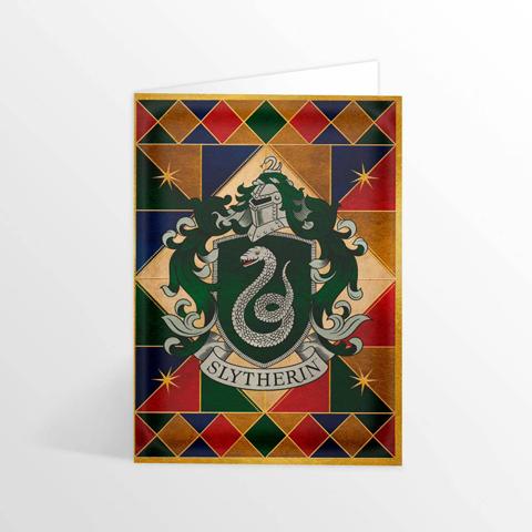 Carte 2 volets Slytherin Crest