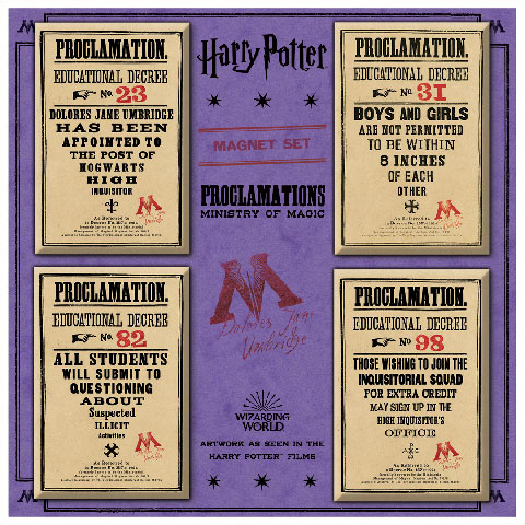 Lot de magnets - Ministry of Magic Proclamations